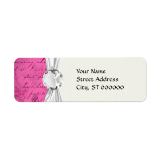 pink chandelier vintage writing background return address label