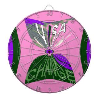 Pink Change  USA pattern design art Dartboard