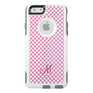 Pink Check Pattern Monogram OtterBox iPhone Case
