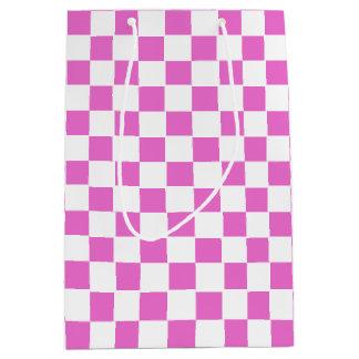 Pink Checkered Medium Gift Bag