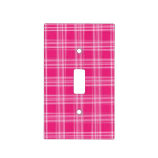 Pink Checkered Plaid Light Switch Cover