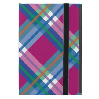 Pink Checks Splatter Cases For iPad Mini