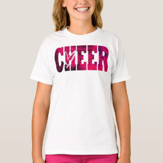 Pink Cheer Heart Shirt