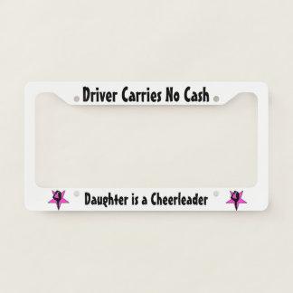 Pink Cheerleader license plate holder License Plate Frame