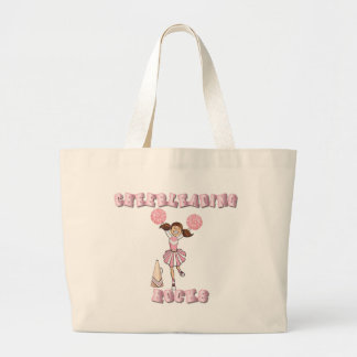 Pink Cheerleading Rocks Large Tote Bag