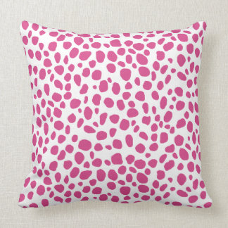 Pink Cheetah Animal Print Throw Pillow