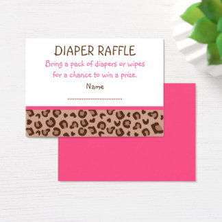 Pink Cheetah Diaper Raffle Tickets