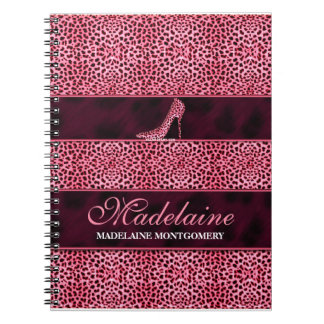 Pink Cheetah for the Writer Notebook