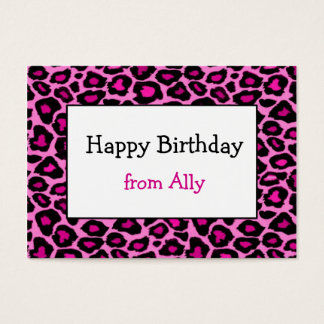 Pink Cheetah Gift Enclosure / Gift Tag (#GIFT 005) Business Card