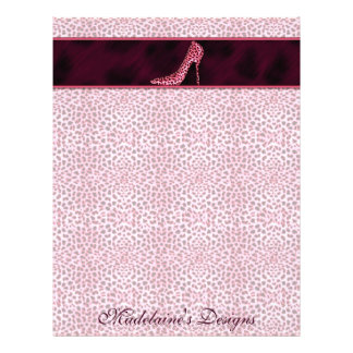 Pink Cheetah Print Business Letterhead