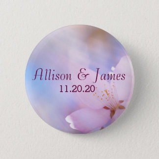 Pink cherry blossom 2 inch round button