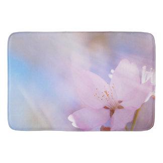 Pink cherry blossom bath mat
