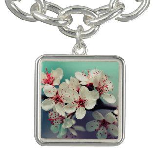 Pink Cherry Blossom, Cherryblossom, Sakura Charm Bracelets