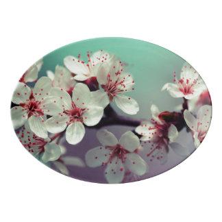Pink Cherry Blossom, Cherryblossom, Sakura Porcelain Serving Platter