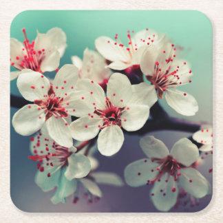Pink Cherry Blossom, Cherryblossom, Sakura Square Paper Coaster