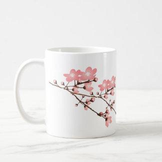 Pink Cherry Blossom Classic White Mug