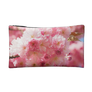 Pink Cherry Blossom Cosmetic Bag