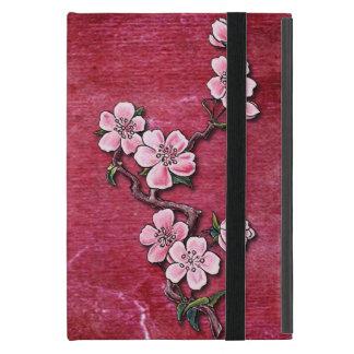 Pink Cherry Blossom Floral Tattoo Design iPad Mini Case