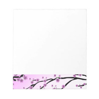 Pink Cherry Blossom Flowers Notepad