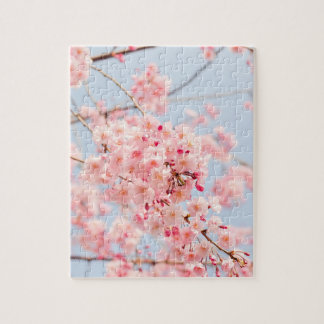 Pink Cherry Blossom Jigsaw Puzzle