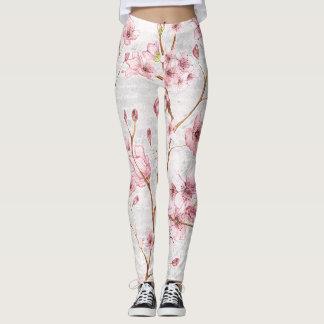 Pink Cherry Blossom Leggings