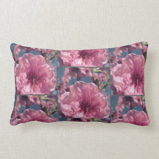 Pink cherry blossom pattern lumbar pillow
