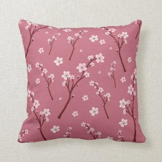 Pink cherry blossom pillow