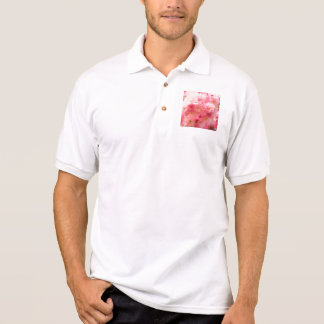 Pink Cherry Blossom Polo Shirt