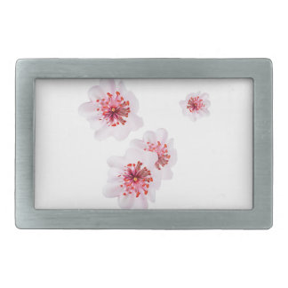 Pink cherry blossom sakura flowers  in Japanese st Rectangular Belt Buckle