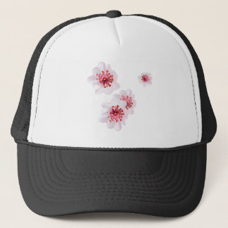 Pink cherry blossom sakura flowers  in Japanese st Trucker Hat
