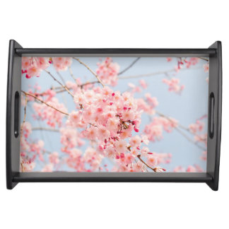 Pink Cherry Blossom Serving Tray