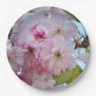 Pink Cherry Blossom Spring Easter Dinner Plate