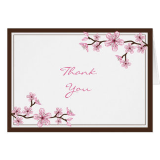 Pink Cherry Blossom Thank You cards