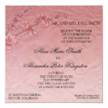 Pink Cherry Blossom Wedding Bridal invitation
