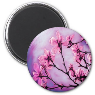 Pink Cherry Blossoms Magnet