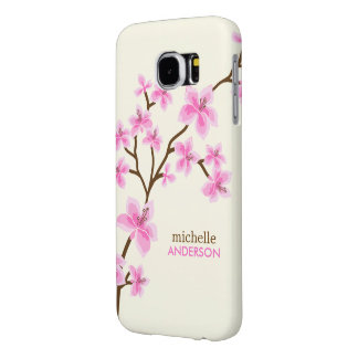 Pink Cherry Blossoms Tree Samsung Galaxy S6 Cases