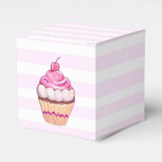 Pink Cherry Cupcake Box Wedding Favor Boxes
