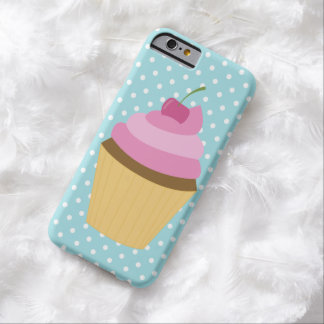 Pink Cherry Cupcake Illustration Barely There iPhone 6 Case