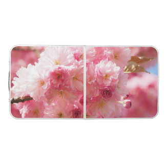 Pink Cherry Floral Pong Table