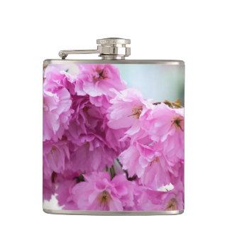Pink Cherry Sakura Tree Hip Flask