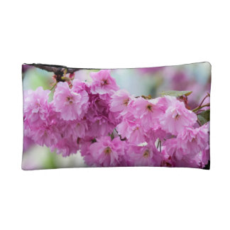 Pink Cherry Sakura Tree Makeup Bag