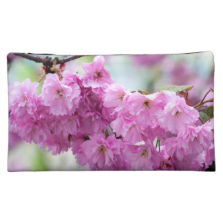 Pink Cherry Sakura Tree Makeup Bags