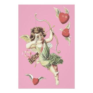 Pink Cherub Cupid Heart Bow Arrows Photograph