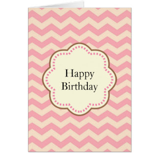 Pink Chevron Card