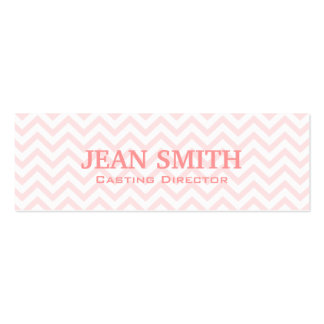 Pink Chevron Casting Director Business Card