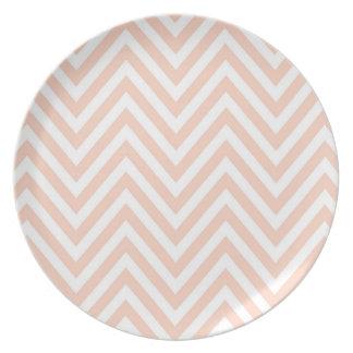 Pink Chevron Dinnerware Plate