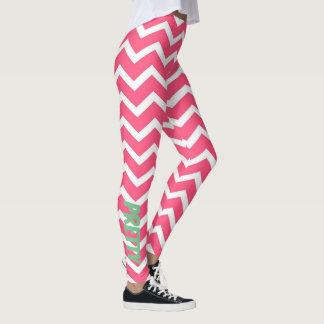 Pink Chevron leggings
