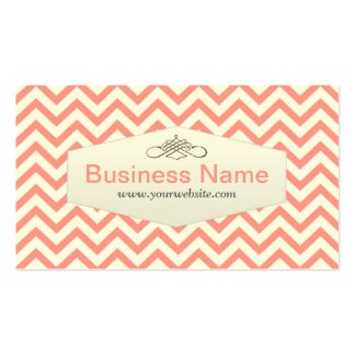 Pink Chevron Marriage Counseling Business Card