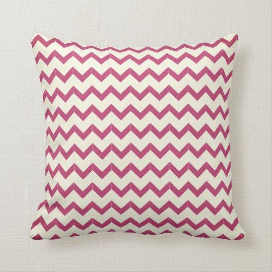 Pink chevron on white, your name cushion