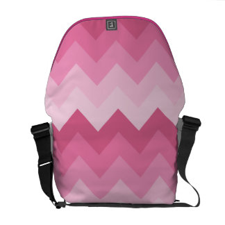 Pink chevron pattern courier bags